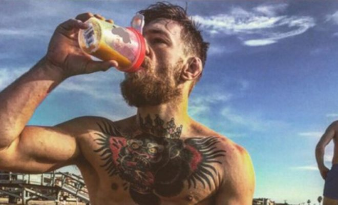 Conor-McGregor Working Out At The Beach